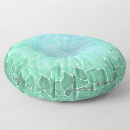 Abstract Sea Glass Floor Pillow