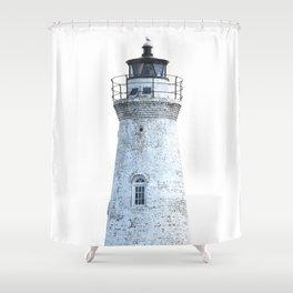 Lighthouse Illustration Shower Curtain