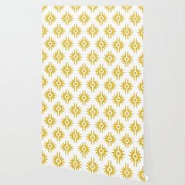 Mid Century Modern Bang Pattern 272 Must Yellow Wallpaper