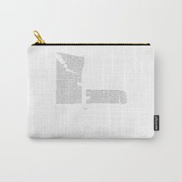 Erosion & Typography 4 Carry-All Pouch