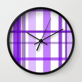 Shades of Purple and White Wall Clock