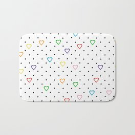 Candy Heart Spots Bath Mat
