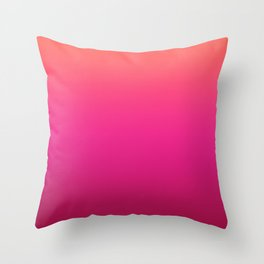 Gradient Burgundy Red Coral Orange Pink Hot Ombre Pattern Bright Pretty Trendy Blurred Texture Throw Pillow