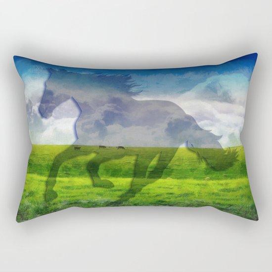 Horse fantasy Rectangular Pillow
