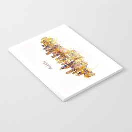 Charlotte Watercolor Skyline Notebook
