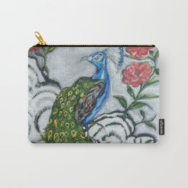 Peacock and Frog Carry-All Pouch