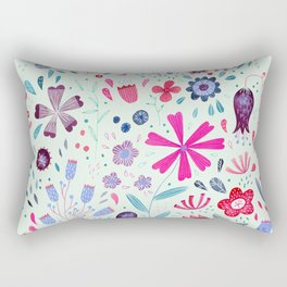 Kennington Flowers Watercolor Rectangular Pillow