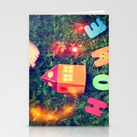 home sweet home Stationery Cards featuring HOME by Julia Kovtunyak