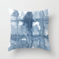 indigo Throw Pillows featuring Indigo by Dream Of Forest