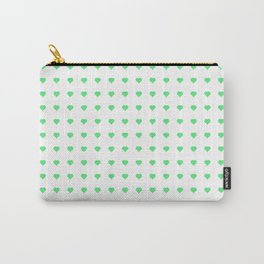 Heart Green Texture Carry-All Pouch