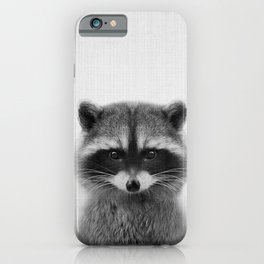 raccoon headshot iPhone Case