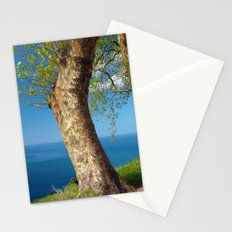 Trees overlooking the ocean Stationery Cards