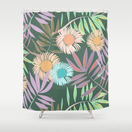 Gerbera and Palms Shower Curtain
