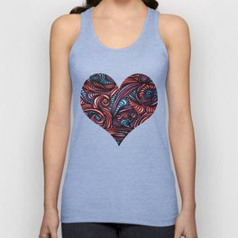 Red and Blue Unisex Tank Top