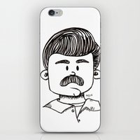 ron swanson iPhone & iPod Skins featuring Ron Swanson by art by arielle