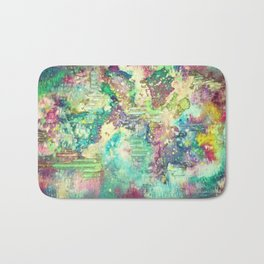 Watercolor Explosion Painting Bath Mat