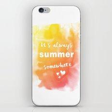 Always summer iPhone & iPod Skin