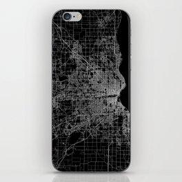 milwaukee map iPhone Skin