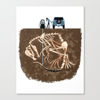 pocket fuel Canvas Prints featuring Fossil Fuel by Supuru