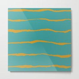 Rip stripes Metal Print