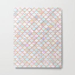 Pastel Memaid Scales Pattern Metal Print