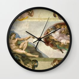 "Michelangelo ""Creation of Adam"" Wall Clock"