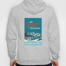 Steamboat Springs Vintage Ski Poster Hoody
