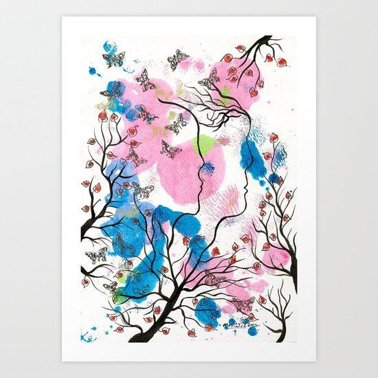 Growing Apart Art Print