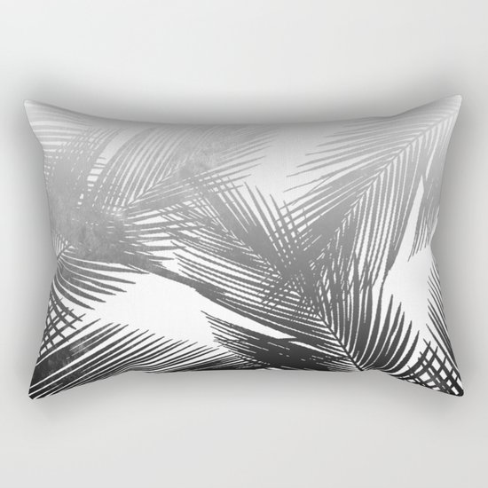 Palms BW Rectangular Pillow