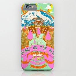 PEACE ON THE RISE iPhone Case