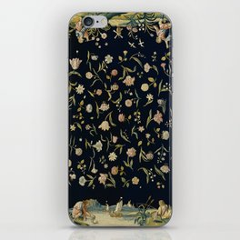 Vintage Tapestry II with Border iPhone Skin