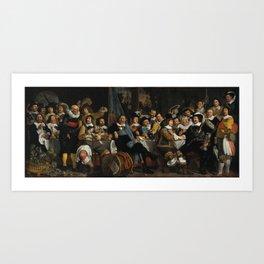 Banquet of the Amsterdam Civic Guard Art Print