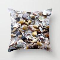 shells Throw Pillows featuring Shells by Anne Seltmann