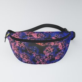 Fractal Pink and Purple Queen Anne's Lace Fanny Pack