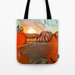 Fine Late Summer Sunset Tote Bag