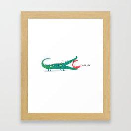 C is for Crocodile Framed Art Print