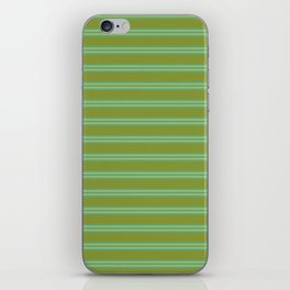 baby poo + mint stripes iPhone Skin