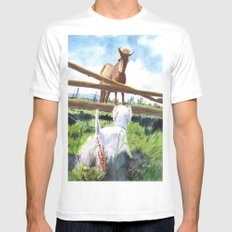 Horse & Terrier MEDIUM White Mens Fitted Tee