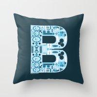 ben giles Throw Pillows featuring Ben by jonathanMORFFI