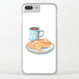 Southern Hygge: Bisuits n' Coffee Clear iPhone Case