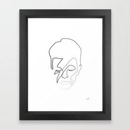 db as black Framed Art Print