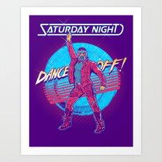 Saturday Night Dance-Off Art Print