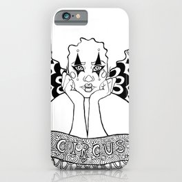 Halloween Circus Clown Ink Portrait iPhone Case