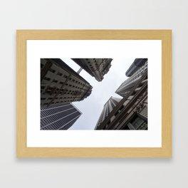 Looking towards Sky - NYC Framed Art Print