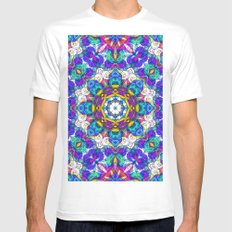 Drawing Floral Doodle G416 Mens Fitted Tee White MEDIUM