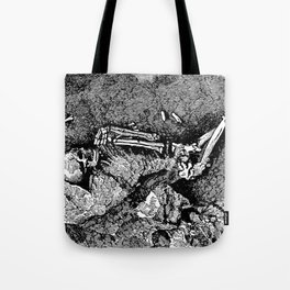 Remains of Prehistoric Man Tote Bag
