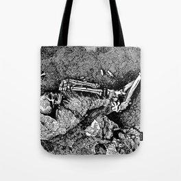 Remains of Prehistoric Man Tote Bag