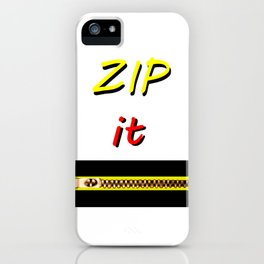 Zip it Black Yellow Red jGibney The MUSEUM Gifts iPhone Case