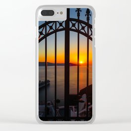 Gorgeous sunset Clear iPhone Case