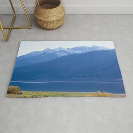 Blue Snow Capped Mountains Rug